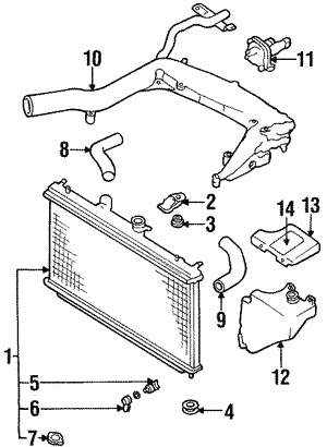 Radiator Components For 1998 Subaru Forester