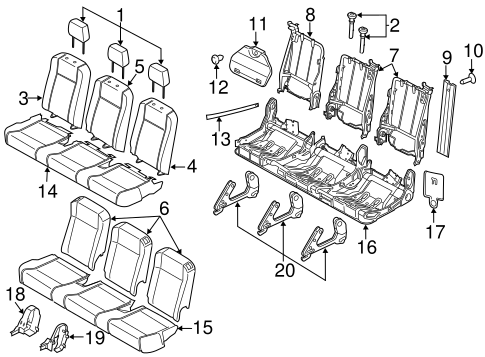 Body/Third Row Seats for 2015 Ford Transit-150 #3