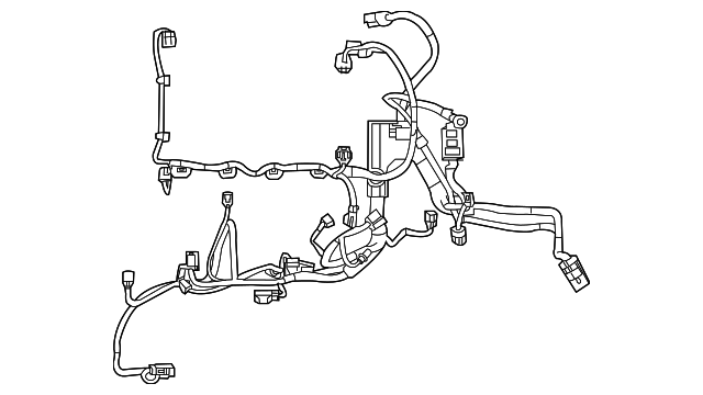 ford fiesta engine wiring harness ford d2bz 12a581 d tascaparts rh tascaparts com F150 Alternator Wiring Diagram Dodge Wiring Harness Diagram