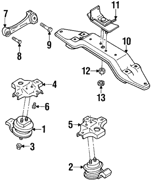 Engine Trans Mounting For 1992 Subaru Svx