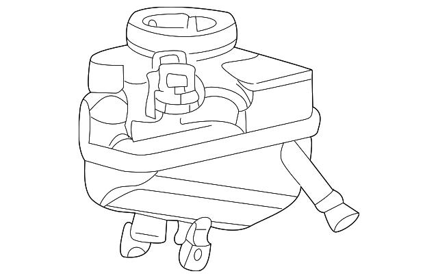 2002 2007 Jaguar X Type Master Cylinder Reservoir C2s16195