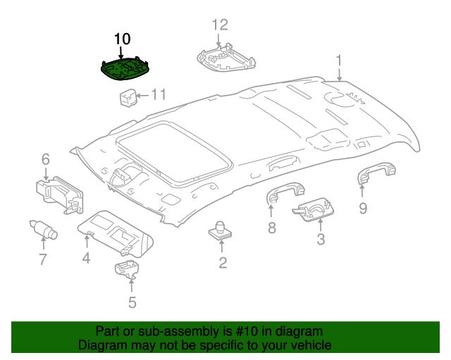 Map Lamp Mercedes Benz 164 870 30 26 9051 Mb Oem Parts