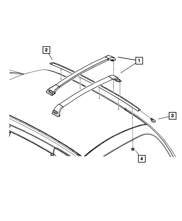 Luggage Rack Side Rail, Right - Mopar (5288-820AB)