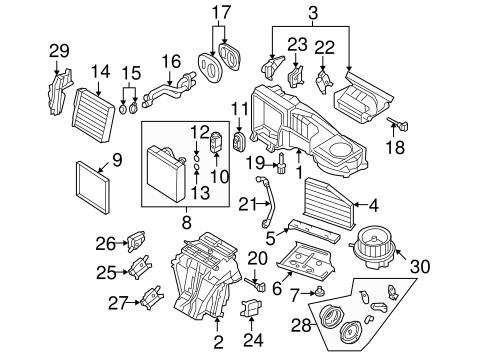 Oem Vw Evaporator Heater Components For 2006 Volkswagen Passat