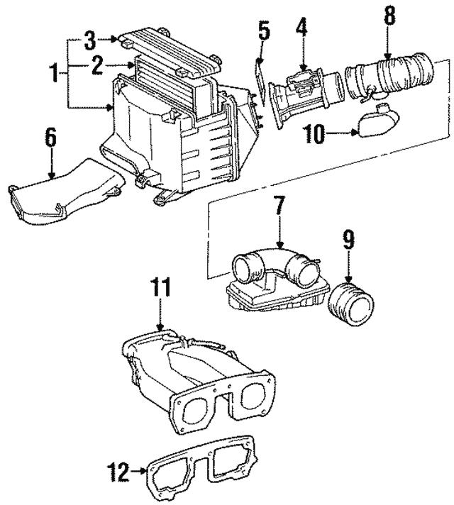 Inlet Duct Lexus 5329924010: 1997 Lexus Sc300 Engine Diagram At Hrqsolutions.co