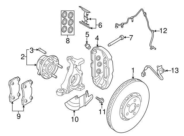 2015 2019 Ford Mustang Seal Kit Fr3z 2207 A
