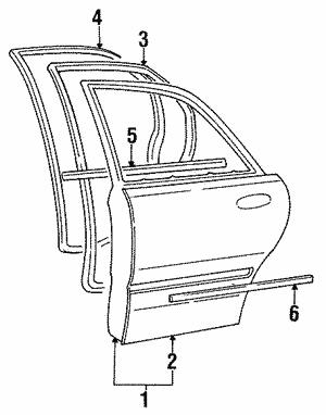 Genuine Hyundai 82313-34000 Door Tape