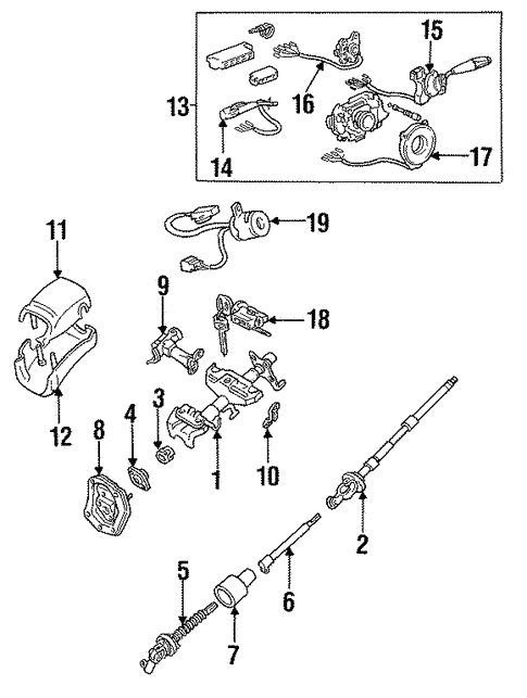 Steering Column Assembly for 1997 Toyota T100 #1