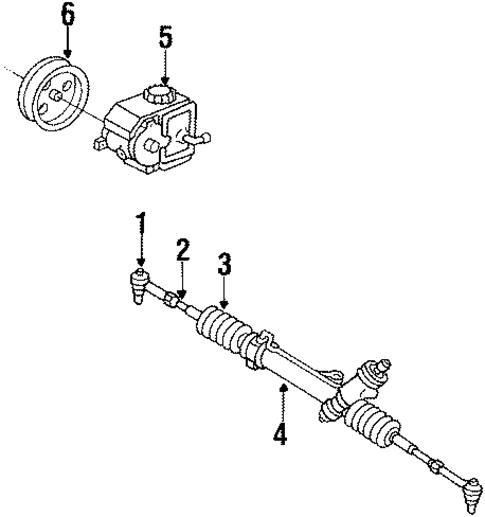 oem 1989 buick lesabre steering gear  u0026 linkage parts