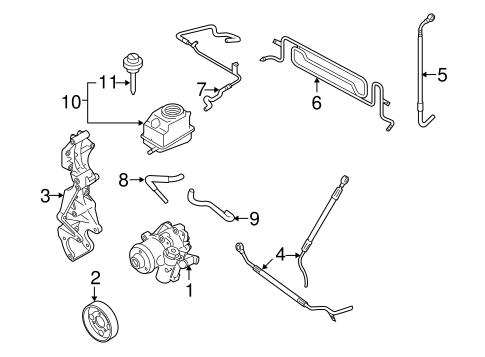Volkswagen Power Steering Return Line 1j0422093a