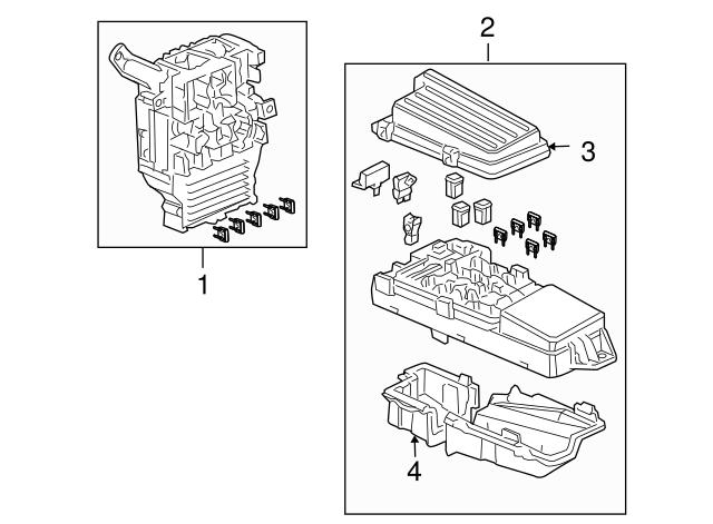 2003 2005 Honda Accord Coupe Box Assembly Fuse 38200 Sdn A02