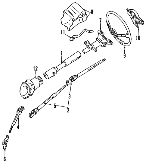 Steering/Steering Column for 1986 Toyota Supra #1