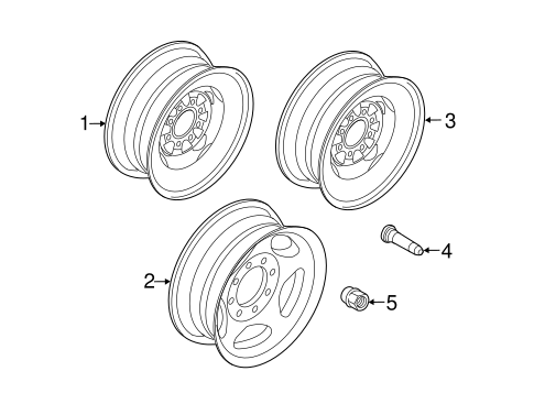 Front Suspension/Wheels for 2012 Ford E-150 #1