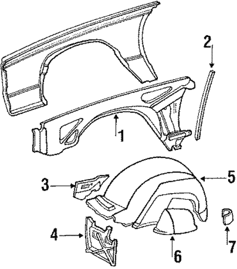 Body/Structural Components & Rails for 1988 Buick LeSabre #1