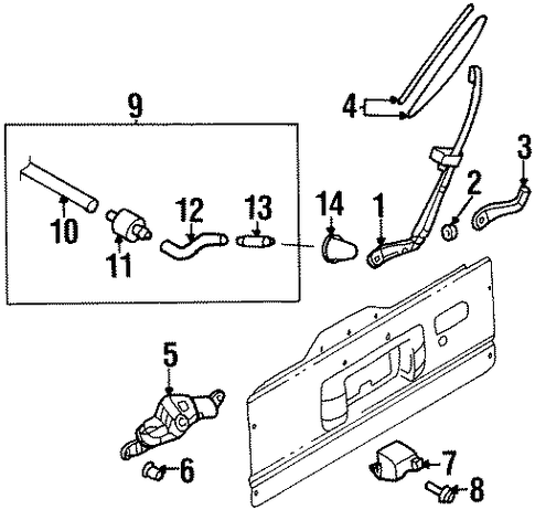 Blade Assembly, Rear Wiper