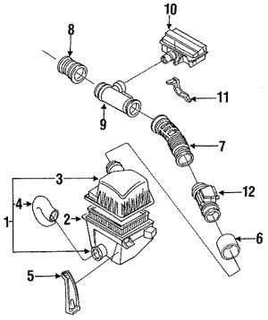 genuine oem mazda air intake parts realmazda Air Intake Duct Hose air filter