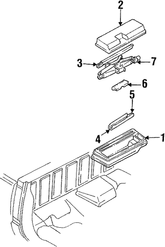 Interior Trim Cab Scat on 1992 gmc sierra sle