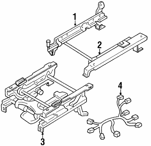 Tracks & Components for 1995 Isuzu Trooper #0