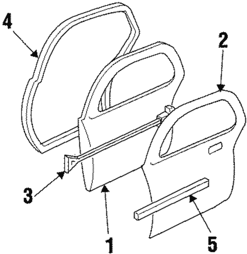 Door & Components for 1998 Oldsmobile Intrigue #0