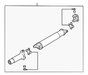 Drive Shaft Assembly - Mazda (1F01-25-100A)