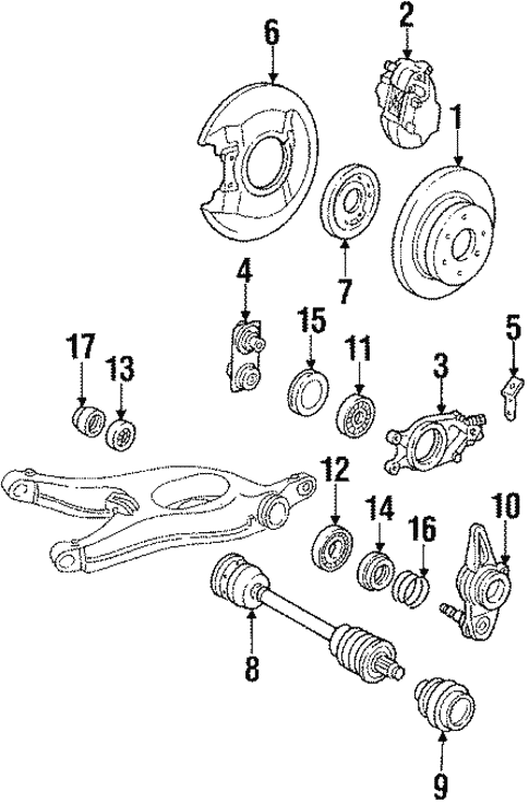 Rear Brakes for 1986 Mercedes-Benz 560 SL #0