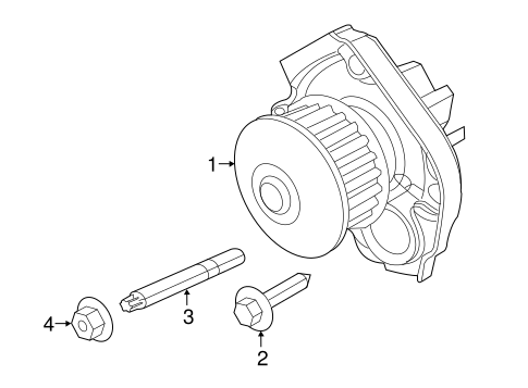 Water Pump For 2015 Jeep Renegade
