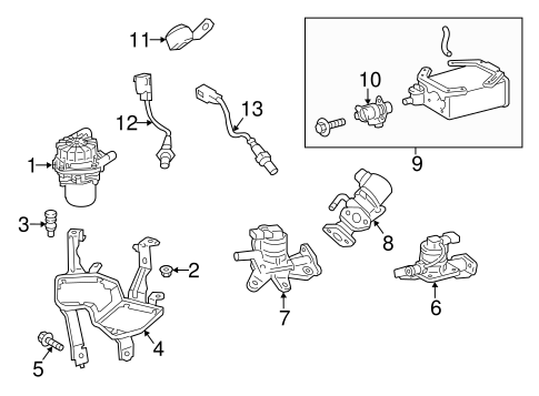 2001 Chevy S10 Secondary Air Injection System Diagram further Subaru Cross Member 20152ae00b as well Toyota Diverter Valve 2570138132 also Acura 2004 Premaero Pageacura moreover  on 91 acura nsx parts