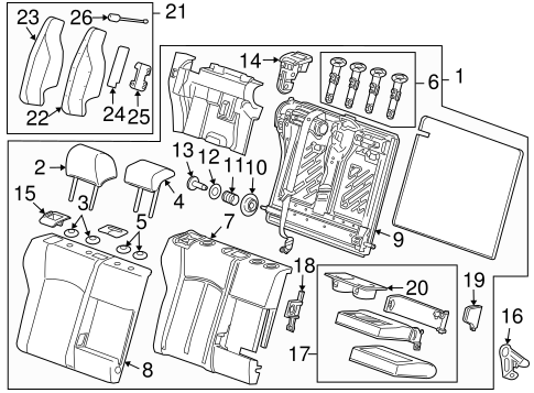Rear Seat Components For 2015 Chevrolet Cruze