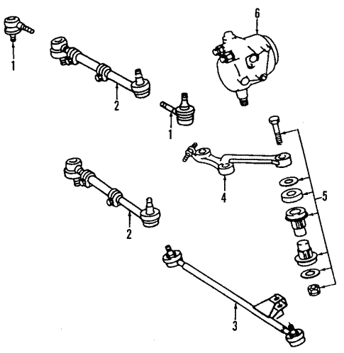 Steering Gear & Linkage for 1987 Mercedes-Benz 560 SL #1