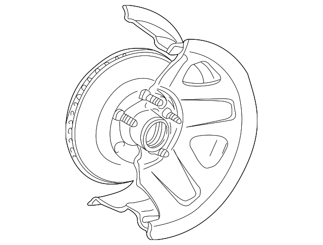 Genuine Ford Hub Rotor 4l5z 1102 Ba