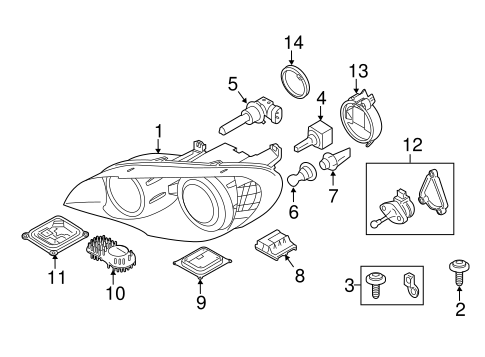 Headlamp Components For 2010 Bmw X5
