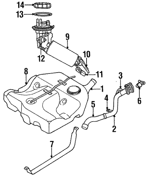 Dodge Stratus Fuel Tank Components Assembly And Parts Diagram The