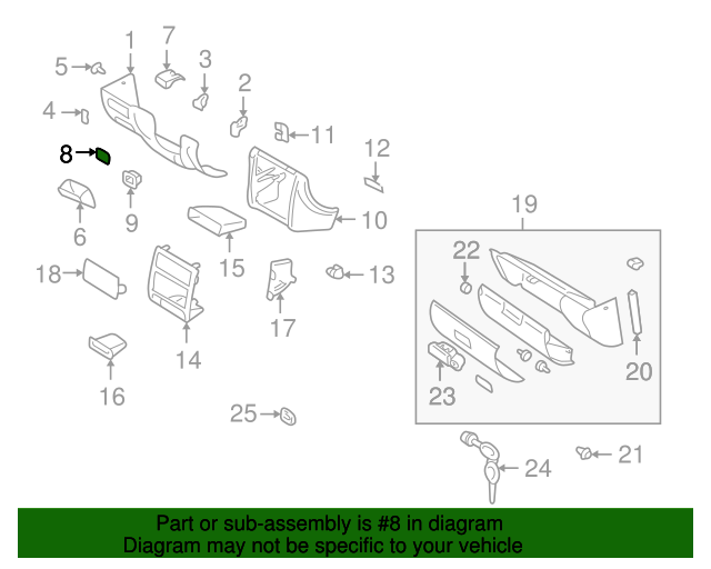 fuse box label subaru 82245fa200 quirk parts. Black Bedroom Furniture Sets. Home Design Ideas