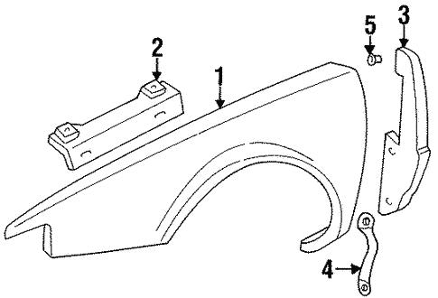 Fender Components For 1996 Cadillac Eldorado