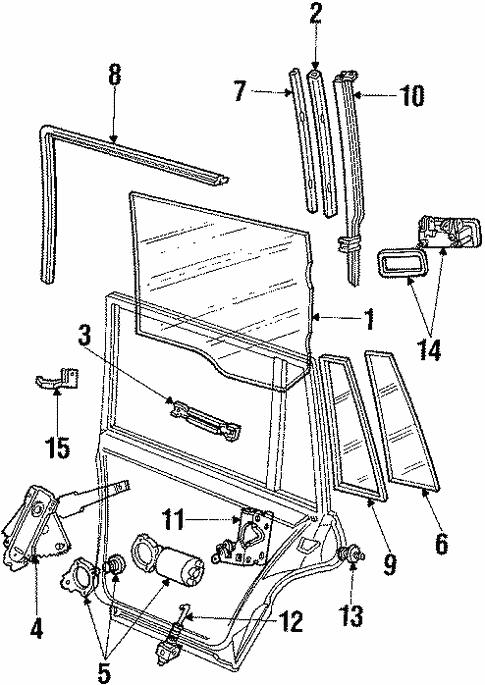 OEM 1988 Lincoln Town Car Rear Door Parts - BlueSpringsFordParts.com
