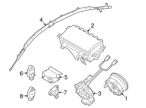 Air Bag Components For 2010 Kia Forte