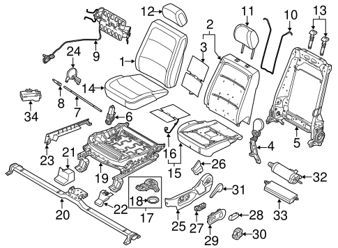 Body/Front Seat Components for 2013 Ford Flex #1