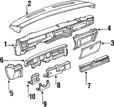 instrument panel for 1989 lincoln town car. Black Bedroom Furniture Sets. Home Design Ideas