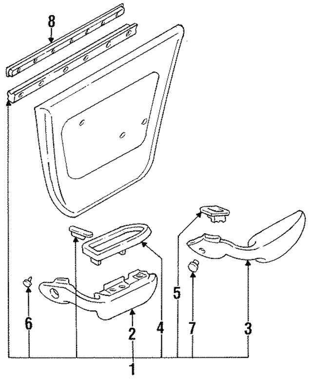 1992 1996 Toyota Camry Belt Weather Strip 68190 33020