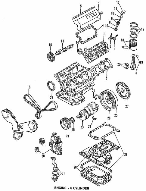 Oil Pan For 1996 Audi A4 Quattro Audi Burlingame Parts