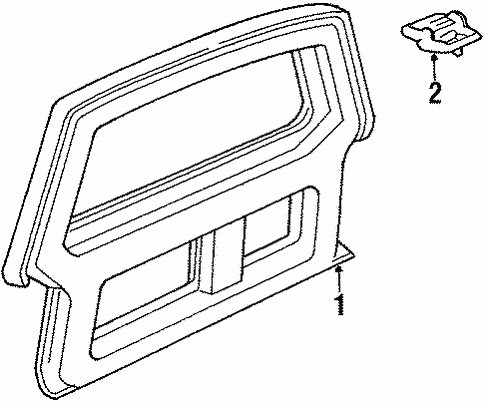 gate  u0026 hardware for 1986 ford bronco ii