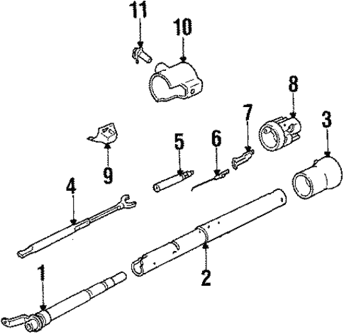 steering column assembly for 1984 cadillac eldorado biarritz 1985 GMC Steering Column Diagram steering steering column assembly for 1984 cadillac eldorado 1