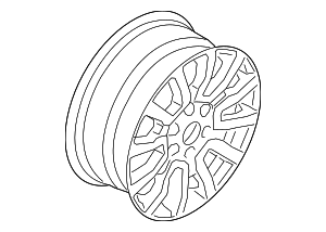 Wheel, Alloy - Ford (KB3Z-1007-B)