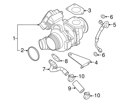 Turbocharger Components For 2015 Bmw 328d