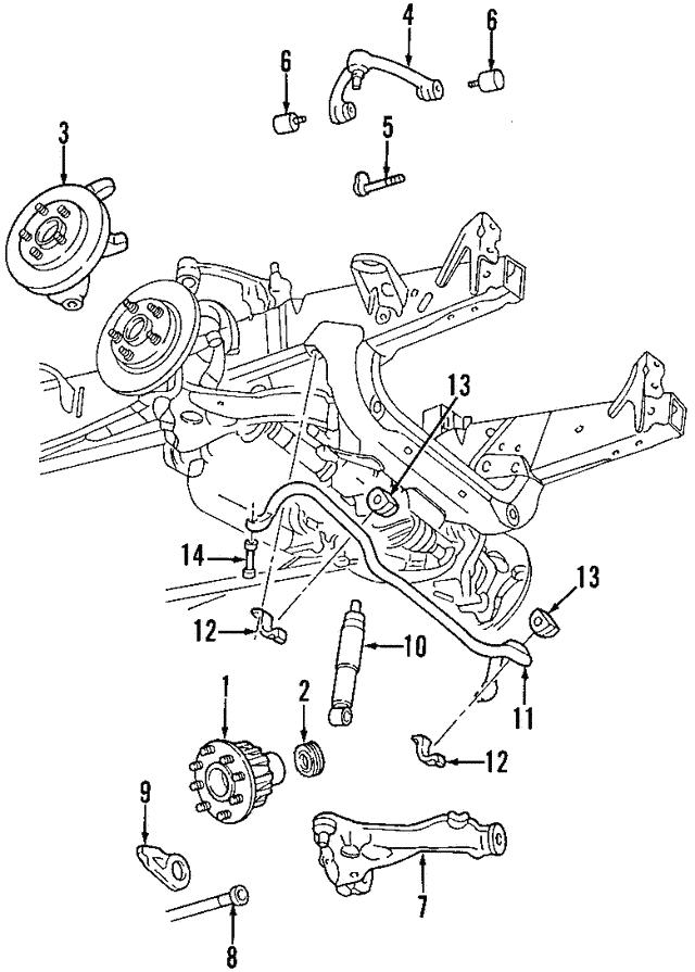 1997-2004 Ford OEM Hub Assembly G2MZ-1104-U | OEM Ford Parts