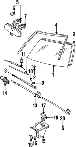 ELECTRICAL/WIPERS for 1996 Toyota Corolla #1