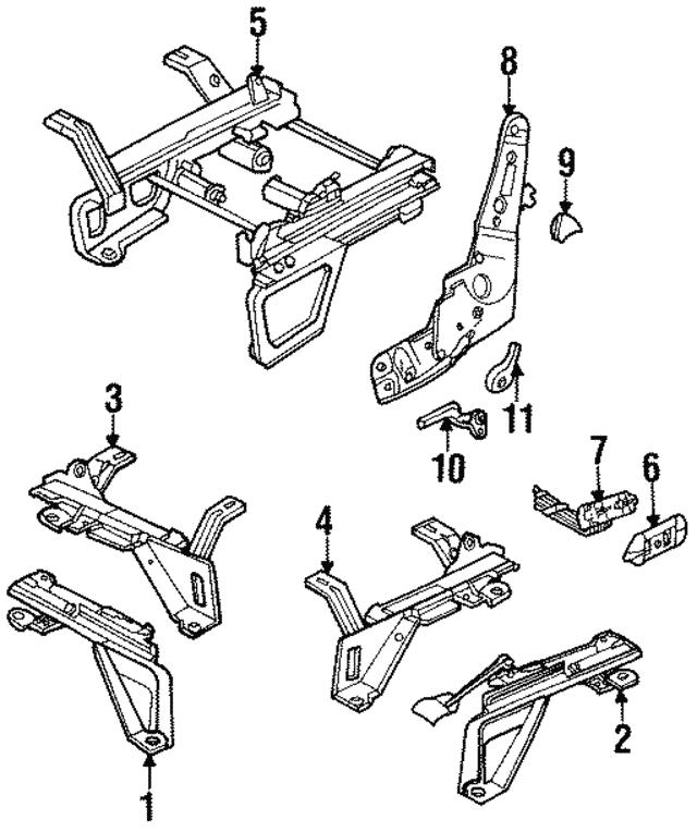 1992 2009 Mopar Seat Switch 56049777aa