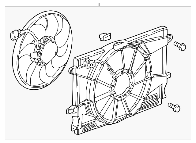 2017 2018 Chevrolet Cruze Fan Assembly 39013322