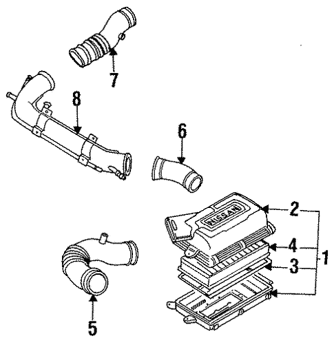 Air Inlet for 1986 Nissan 200SX | Nissan Wholesale Direct on 1995 nissan 240sx wiring diagram, 1986 nissan 300zx wiring diagram, 1986 nissan 200sx transmission, 1991 nissan 240sx wiring diagram, 1997 nissan 240sx wiring diagram, 1985 nissan 300zx wiring diagram, 1990 nissan 240sx wiring diagram, 1993 nissan 240sx wiring diagram, 1986 nissan hardbody wiring diagram, 1996 nissan 240sx wiring diagram, 1997 nissan quest wiring diagram, 1989 nissan 240sx wiring diagram, 2009 nissan cube wiring diagram, 1986 nissan sentra wiring diagram, 2007 nissan armada wiring diagram, 2004 nissan armada wiring diagram,