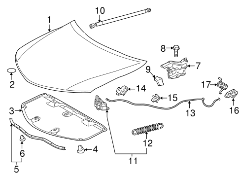 BODY/HOOD & COMPONENTS for 2012 Toyota Camry #1